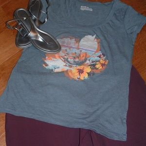 Summer Clearance Mossimo Size XXL Gray T-shirt